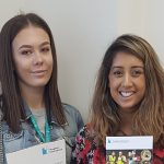 Work experience student Jennifer with HR Co-ordinator Husna Begum